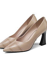 abordables -Femme Chaussures de confort Cuir Nappa Printemps Chaussures à Talons Talon hétérotypique Noir / Vert / Rose