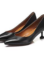 Недорогие -Жен. Комфортная обувь Наппа Leather Осень Обувь на каблуках На шпильке Черный / Розовый