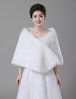 cheap -Sleeveless Faux Fur Wedding / Birthday Women's Wrap With Split Capelets