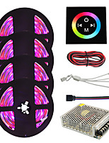 cheap -HKV 4x5M Light Sets / RGB Strip Lights 1200 LEDs 3528 SMD RGB Waterproof / Cuttable / Linkable 100-240 V 1set