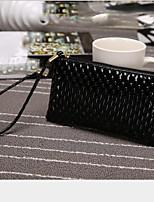 cheap -Women's Bags PU(Polyurethane) Clutch Zipper White / Black / Silver