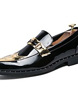 cheap -Men's Patent Leather Fall Comfort Loafers & Slip-Ons Gold / Black