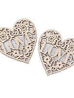 cheap -Christmas / Wedding Wooden Wedding Decorations Sweet Heart / Creative / Wedding All Seasons