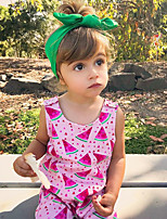 Недорогие -2шт малыш Девочки Активный С принтом С принтом Без рукавов Хлопок 1 предмет
