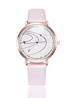 cheap -Women's Dress Watch Wrist Watch Quartz New Design Casual Watch PU Band Analog Fashion Elegant Black / White / Blue - Blue Pink Khaki One Year Battery Life