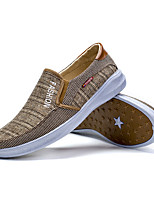 cheap -Men's Canvas Spring Moccasin Loafers & Slip-Ons Gray / Coffee
