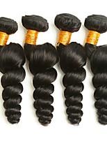 Недорогие -4 Связки Индийские волосы / Монгольские волосы Свободные волны Необработанные / Натуральные волосы Подарки / Косплей Костюмы / Человека ткет Волосы 8-28 дюймовый Естественный цвет