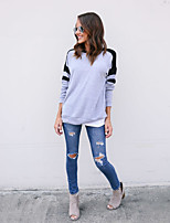 cheap -Women's Cotton Sweatshirt - Solid Colored