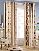 cheap -Blackout Curtains Drapes Bedroom Stripe Chenille Jacquard