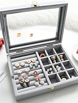 cheap -Storage Organization Jewelry Collection Cloth Square Double-layer