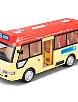 Недорогие -Игрушечные машинки Автобус Транспорт / Автобус Вид на город / Cool / утонченный Металлический сплав Все Детские / Для подростков Подарок 1 pcs