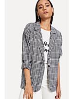 cheap -Women's Blazer-Houndstooth,Print