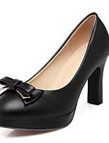 abordables -Femme Chaussures de confort Faux Cuir Automne Chaussures à Talons Hauteur de semelle compensée Noir / Beige / Rose
