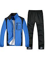 cheap -Men's Sports Long Sleeve Activewear Set - Color Block / Letter
