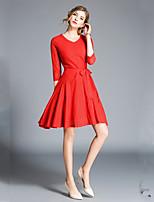 economico -Per donna Elegante Linea A / Swing Vestito - Traforato / Lacci Al ginocchio