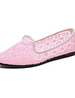 Недорогие -Жен. Комфортная обувь Сетка Осень На плокой подошве На плоской подошве Круглый носок Черный / Бежевый / Розовый