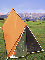 cheap -1 person Emergency Survival Shelter Tent Double Layered Poled Camping Tent Outdoor Lightweight, Breathability, UV resistant for Camping / Hiking / Caving 1000-1500 mm Nylon 200*100*100 cm