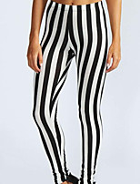 cheap -Women's Sporty Legging - Striped Mid Waist