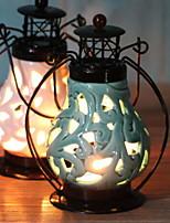 Недорогие -Европейский стиль Керамика / Железо Подсвечники Канделябр 1шт, Свеча / подсвечник