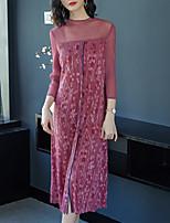 Недорогие -Жен. Классический / Элегантный стиль Оболочка Платье - Однотонный / Цветочный принт Средней длины