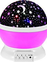 billiga -1st Sky Projector NightLight / Nursery Night Light Färgglad AAA Batterier Drivs / USB För Barn / Dekorativ / Atmosfärlampa Batteri