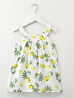 cheap -Kids / Toddler Girls' Lemon Cartoon / Fruit Sleeveless Dress