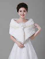 cheap -Sleeveless Faux Fur Wedding / Party / Evening Women's Wrap With Lace-trimmed bottom Capelets