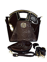 cheap -Women's Bags PU(Polyurethane) Bag Set 2 Pieces Purse Set Zipper / Embossed Yellow / Coffee / Wine
