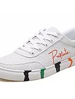 cheap -Men's Canvas / Linen Summer Comfort Sneakers Color Block Orange / Green / Black / White