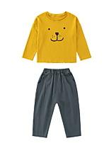Недорогие -Дети / Дети (1-4 лет) Мальчики Мультипликация Длинный рукав Набор одежды