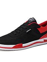 Недорогие -Муж. Комфортная обувь Сетка / Полиуретан Осень На каждый день Кеды Нескользкий Черно-белый / Черный / Красный