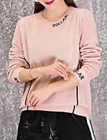 cheap -Women's Long Sleeve Pullover - Letter