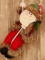 baratos -Fantasias de Natal / Enfeites de Natal Férias Tecido de Algodão Quadrada Novidades Decoração de Natal