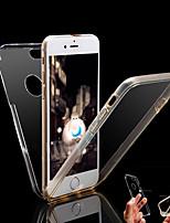 Недорогие -Кейс для Назначение Apple iPhone X / iPhone 8 Защита от удара / Прозрачный Чехол Однотонный Твердый ПК для iPhone X / iPhone 8 Pluss / iPhone 8
