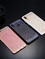 cheap -Case For Huawei P20 / P20 lite Frosted / Translucent / Embossed Back Cover Lace Printing Hard Acrylic for Huawei P20 / Huawei P20 Pro / Huawei P20 lite