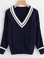 cheap -Women's Basic Pullover - Color Block