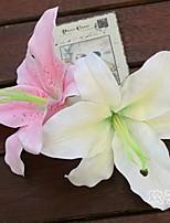 baratos -Flores artificiais 10 Ramo Clássico / Solteiro (L150 cm x C200 cm) Estiloso / Pastoril Estilo Lírios / Peônias Flor de Mesa