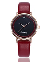 cheap -Women's Wrist Watch Quartz New Design Casual Watch PU Band Analog Casual Fashion Black / White / Red - Red Green Pink One Year Battery Life