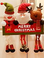baratos -Enfeites de Natal Desenho Tecido Quadrada Novidades Decoração de Natal