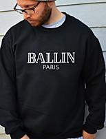 cheap -Men's Basic Sweatshirt - Letter