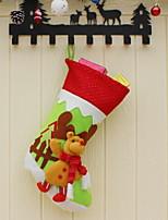baratos -Enfeites de Natal / Meias de Natal Férias Tecido de Algodão Quadrada Novidades Decoração de Natal