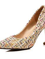 Недорогие -Жен. Синтетика Весна Туфли лодочки Обувь на каблуках На шпильке Черный / Желтый / Розовый
