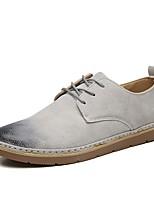 Недорогие -Муж. Комфортная обувь Полиуретан Осень Кеды Черный / Серый / Синий