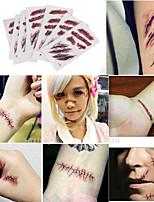 Недорогие -10 pcs Временные тату Временные татуировки Мультипликационные серии Новый дизайн / Оригинальные Искусство тела Лицо / рука / запястье / Стикер татуировки