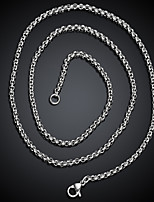 cheap -Men's Stylish Necklace - Titanium Steel Creative Fashion Cool Silver 60 cm Necklace Jewelry 1pc For Gift, Daily