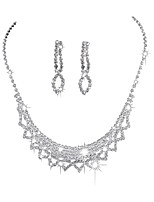 cheap -Women's Classic / Stylish Jewelry Set - Classic, Sweet, Elegant Include Necklace Silver For Wedding / Party