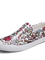 Недорогие -Муж. Полиуретан Осень Удобная обувь Мокасины и Свитер Черный / Серый / Красный