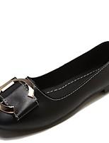 Недорогие -Жен. Полиуретан Осень Удобная обувь На плокой подошве На плоской подошве Круглый носок Черный / Бежевый / Хаки