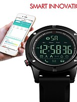 cheap -SKMEI Men's Sport Watch Digital Watch Digital 50 m Water Resistant / Water Proof Bluetooth Stopwatch Silicone Band Digital Luxury Casual Black - Black / Noctilucent
