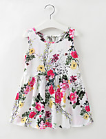 cheap -Kids / Toddler Girls' Floral Sleeveless Dress